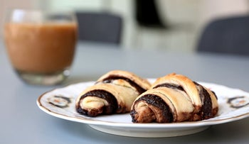 Chocolate rugelach, a favorite Jewish pastry.