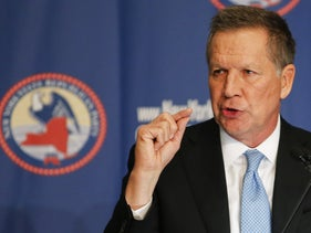 John Kasich speaks during the 2016 annual New York State Republican Gala in New York City, April 14, 2016.