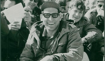 Rehavam Zeevi during his time as head of the Israeli army's Central Command.