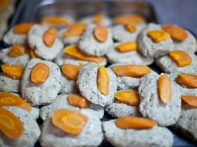 """Gefilte fish, a traditional Jewish delicacy. Gefilte in Yiddish means """"stuffed."""""""