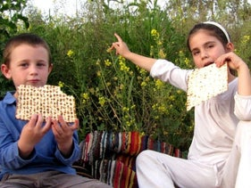 A child's Passover in Israel.