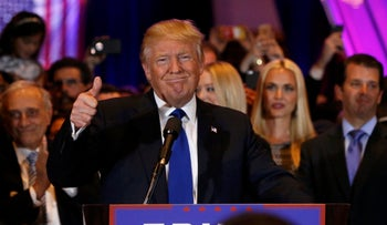 Donald Trump after winning the New York Republican primary, April 19, 2016.