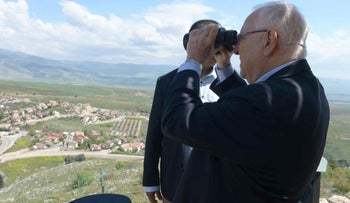 Reuven Rivlin at the Golan Heights, April 21, 2016.