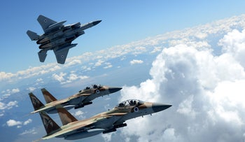 Israel Air Force planes during the joint U.S.-Israel training operation Red Flag.