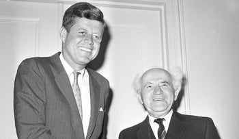 Kennedy and David Ben-Gurion, 1961.