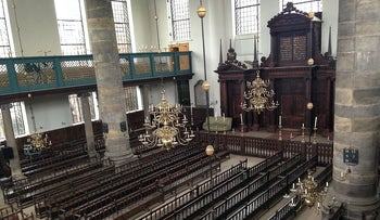 Amsterdam's Portuguese Synagogue, located adjacent to the Jewish slum discovered this past week.