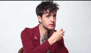 Screenshot from the music video for Lousy Connection by Ezra Furman.