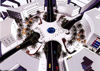 A rendition of Zvi Lishar's vision for Dizengoff square's redesign.