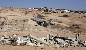 The site of Umm al-Hiran, a Bedouin village that the government wants to plow over.