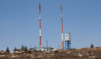 Cellular towers at Beit El in the West Bank.