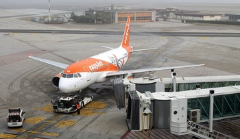 EasyJet aircraft is seen on the tarmac of Venice airport February 1, 2016.