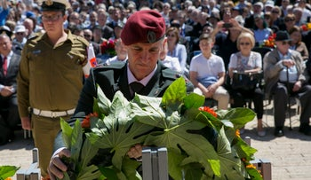 Deputy chief of staff, Maj. Gen. Yair Golan, during a Holocaust Remembrance Day ceremony, May 5, 2016.