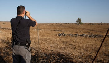 Israeli forces in the Golan Heights.