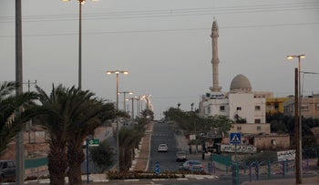 A file photo showing the Bedouin town of Kseifa in southern Israel.