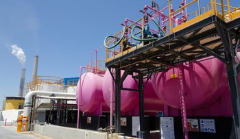 This is the sort of water technology most often associated with Israel: At the IDE and Veolia Sea Water Reverse Osmosis Desalination Plant in Ashkelon.