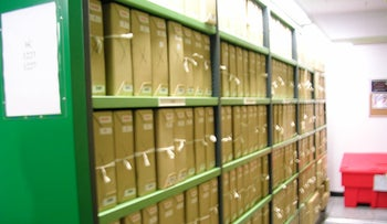 Files at the British national archive in London, in 2006.