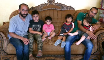 The Jaradat family at home in the West Bank village of Sa'ir.