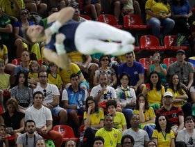 Israel's Alexander Shatilov performs on the horizontal bar during the artistic gymnastics men's qualification at the 2016 Summer Olympics in Rio de Janeiro, Brazil, Saturday, Aug. 6, 2016.