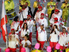 The Lebanese national delegation march during the opening ceremony of the Rio 2016 Olympic Games at the Maracana stadium in Rio de Janeiro, Brazil, August 5, 2016.