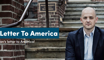 A screenshot taken from Evan McMullen's campaign website.