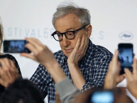 Woody Allen at Cannes Film Festival news conference, May 15, 2015.