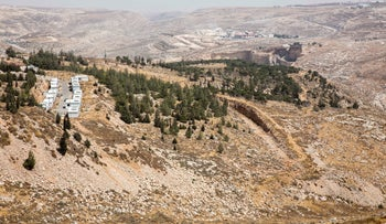 A 200-dunam tract of land between the settlement of Kochav Yaakov and the Palestinian village of Kafr Aqab, 2016.