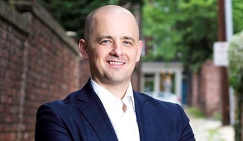 Independent candidate Evan McMullin poses for a photo.