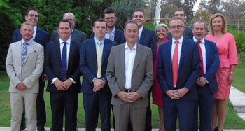 The delegation of Conservative Scottish parliamentarians this week with British Ambassador to Israel David Quarrey.