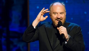 Louis C.K. performing at a charity concert, February 2015.