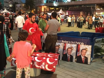 Turks celebrating the failure of the military coup, in Istanbul last month.