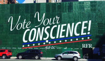 Aby Rosen's Instagram features a photo of a billboard at one of his Lower Manhattan building sites.