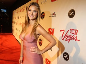 Swimsuit model Bar Refaeli attends the Sports Illustrated Swimsuit Party at LAX on February 12, 2009 in Las Vegas.