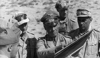 Nazi General Erwin Rommel at the First Battle of El Alamein, Egypt, June 1942.