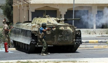 Libyan pro-government forces advance in the area of Sirte against ISIS on August 14, 2016. The fighting has spread concerns about a potential ISIS cell in northern Italy.