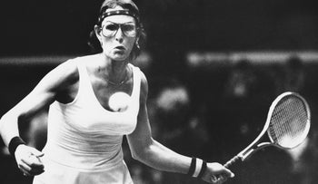 Renee Richards preparing for a forearm shot in a match at the professional women's tennis tournament in Seattle on Feb. 6, 1978. She defeated Sue Mappin of England, 7-6, 5-1 (tiebreaker), 6-1.