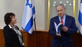 Prime Minister Benjamin Netanyahu and Bank of Israel Governor Karnit Flug.