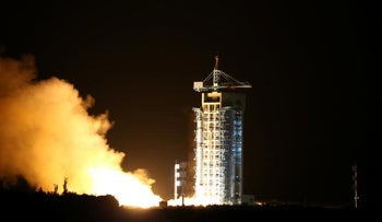 World's first quantum satellite is launched in Jiuquan, Gansu Province, China, August 16, 2016.