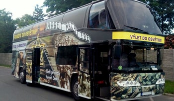 Czech bus advertising trips to Auschwitz as entertainment