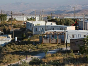 Amona, an unauthorized Israeli outpost in the West Bank, east of the Palestinian town of Ramallah. Under an Israeli Supreme Court order, the government must tear down the outpost by the end of 2016. May 18, 2016 (AP Photo/Oded Balilty)