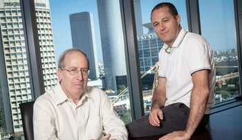 Zvi Stepak, left, and Eli Barkat of Meitav Dash.