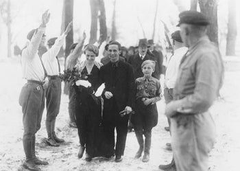 Magda and Joseph Goebbels on their wedding day, December 19, 1931.