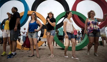 Tourists at the 2016 Olympics Games in Rio de Janeiro, August 20, 2016.