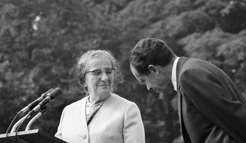 Prime Minister Golda Meir and President Richard Nixon in 1970.