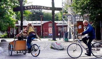 The entrance of Christiania in Copenhagen, Tuesday, May 26, 2009.