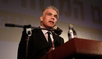 Yesh Atid leader Yair Lapid during an event in the southern city of Sderot, April, 2016.