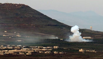 Smoke billows due to fighting in Syria, near the border with Israel, February 17, 2016.