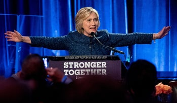 Democratic presidential candidate Hillary Clinton speaks at a LBGT For Hillary Gala at the Cipriani Club, in New York, Friday, Sept. 9, 2016.