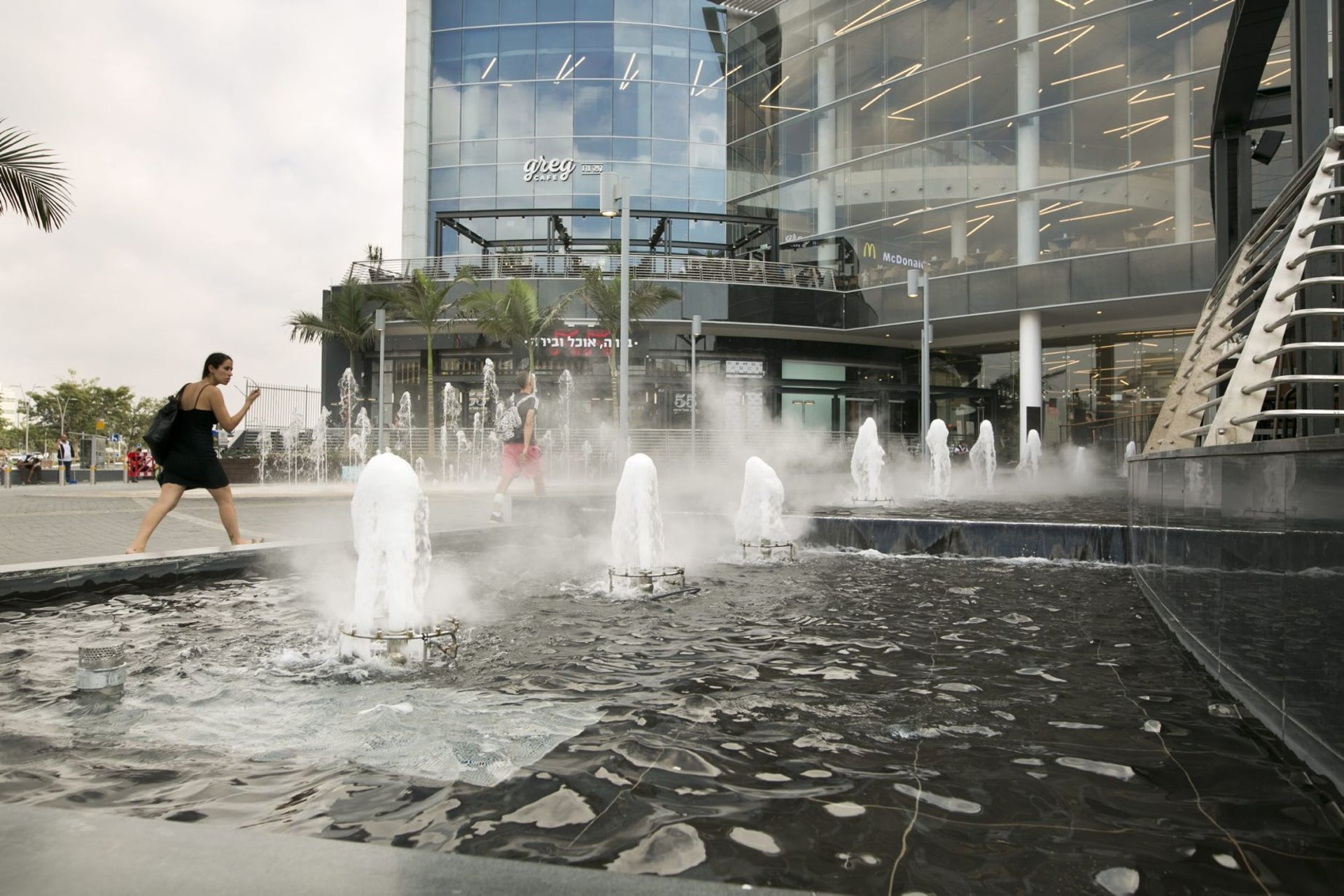 """The Oshiland mall in Kfar Sava. Some residents warn against the city becoming """"another Bnei Brak."""""""