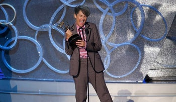 "Jill Soloway accepts the award for Outstanding Directing For A Comedy Series for ""Transparent"" at the 68th Primetime Emmy Awards in Los Angeles, California, U.S., September 18, 2016."
