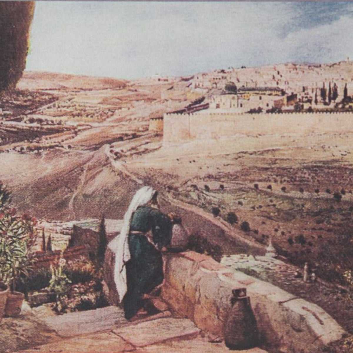 Image that appeared in the 19th-century guidebooks to the Holy Land.